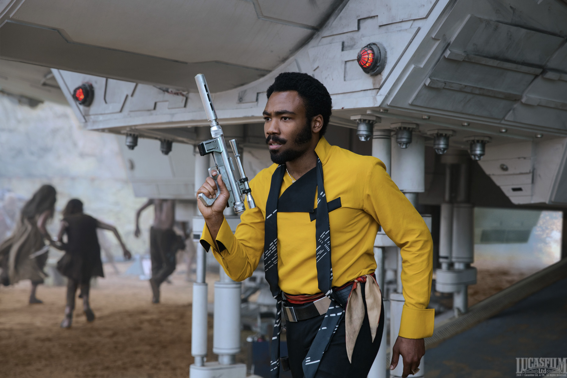 Solo, Star Wars, Lando Calrissian, Donald Glover, Blaster, John Wilson, Stills, Still, Unit, Photographer